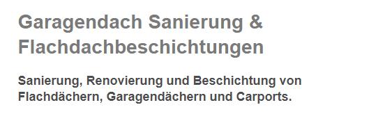 Garagendach Sanierung in  Zirndorf, Seukendorf, Cadolzburg, Roßtal, Oberasbach, Fürth, Stein und Ammerndorf, Nürnberg, Veitsbronn