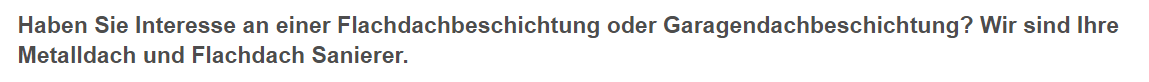 Garagendachbeschichtungen aus  Zirndorf